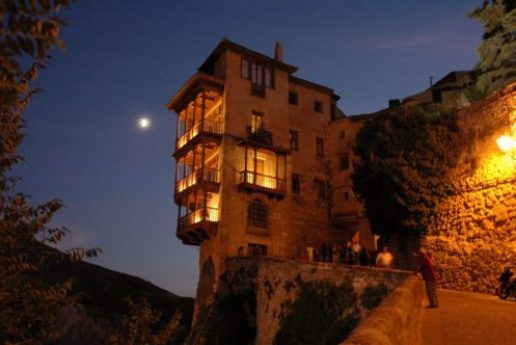 hanging house with lights